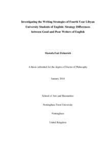 Investigating the writing strategies of fourth year Libyan