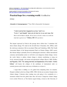 practical hope for a warming world a reflective essay irep preview